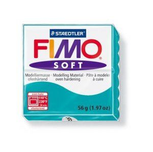 Modelovacia hmota FIMO Soft termotvrdnúca - 56 g - Tyrkysová (kreatívne potreby)