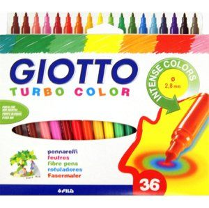 Fixky GIOTTO TURBO COLOR / 36 farieb (markery )