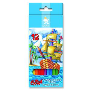 Extra pružné farebné ceruzky CENTI KOH-I-NOOR / 12 ks (farbičky KOH-I-NOOR)