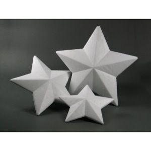 Polystyrénová hviezda / rôzne veľkosti (polotovary z polystyrénu)