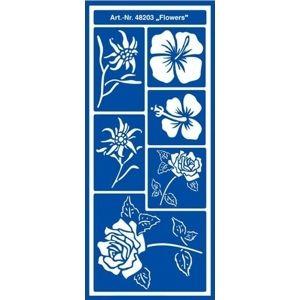 Šablóna Home Design Motif - Flowers (kreatívne potreby)