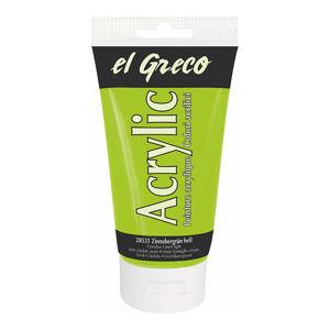 Akrylová farba El Greco 150 ml Light Vermilion Green  (Akrylová farba El Greco 150 ml)