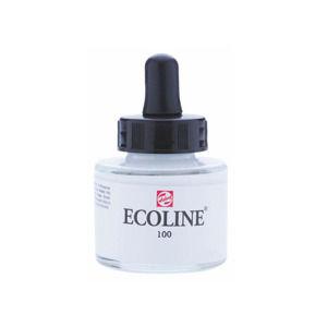 Akvarelová farba Ecoline 30 ml / 100 White (akvarelová farba Ecoline Royal Talens)
