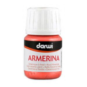 ARMERINA farba na porcelán bez vypaľovania 30ml - rumelková červená (Farby na porcelán Darwi Armerina)