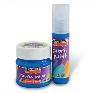 Farba na textil - 50 ml - blue (Farby na textil Pentart)