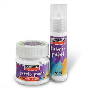 Farba na textil - 50 ml - white (farby na textil PENTART)