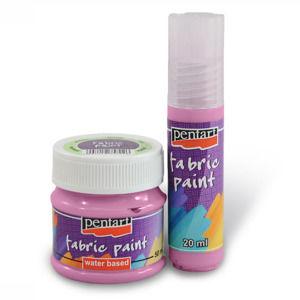 Farba na textil PENTART - 20 ml - raspberry (Farby na textil Pentart)