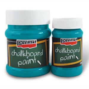 Tabuľová farba PENTART 100 ml - Turquoise ( farba na pisanie kriedou)